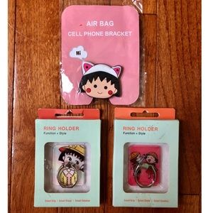 3/$20 Chibi Maruko-Chan Cartoon Phone Ring Stand